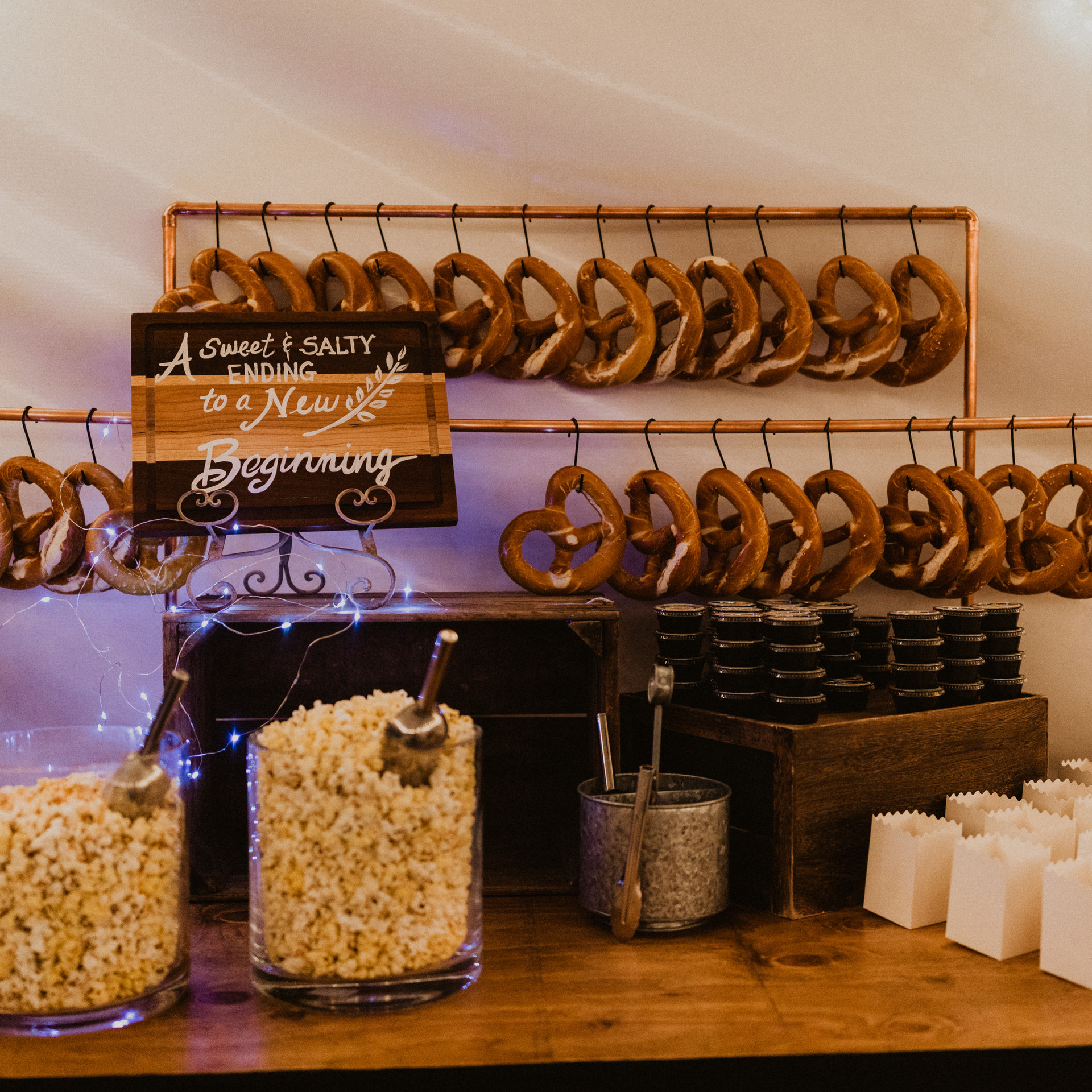 popcorn and pretzle station