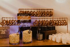 pretzle and popcorn station