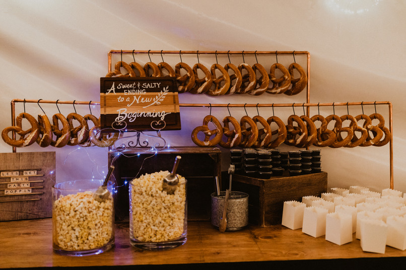 pretzle and popcorn station