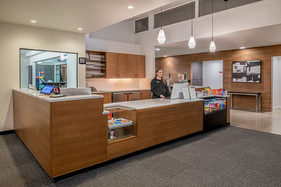 Moutnain Park Check in Desk + Grab and Go snack options