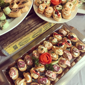 appetizer catering display
