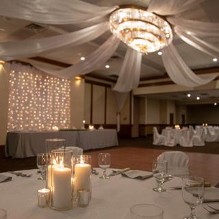 Banquet in ballroom at