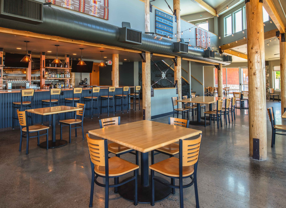 Two Barrels Taps + Grill seating