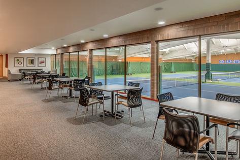 Mountain Park indoor tennis court viewing area