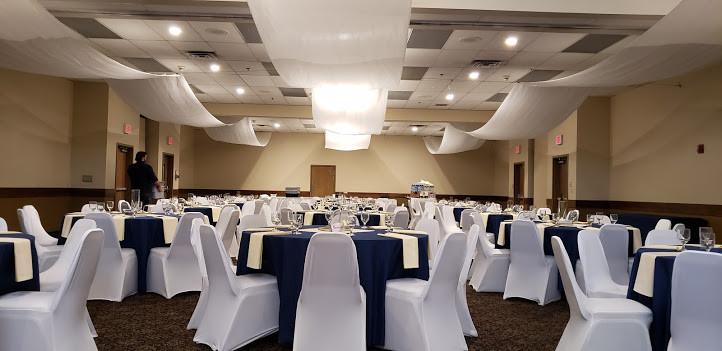 ballroom setup for reception