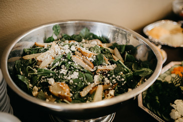 salad with chicken catering