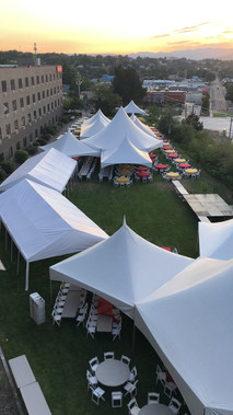 Hells Canyon Grand Hotel outdoor lawn space with tents