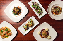 Plated Dishes from Hudson's Bar + Grill