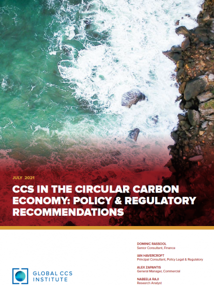 CCS in the Circular Carbon Economy: Policy and Regulatory Proposals
