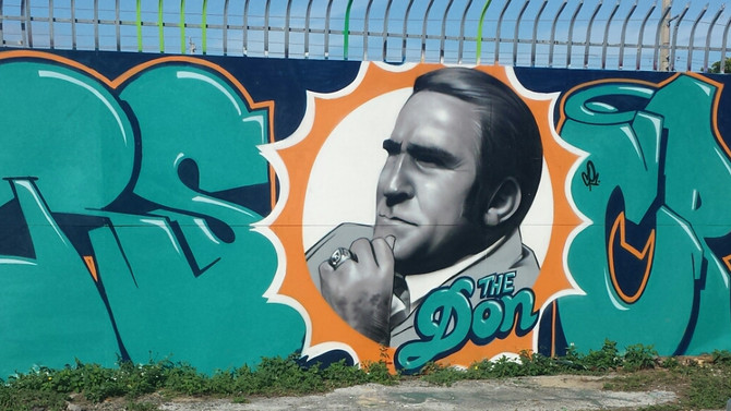 The Don graces the Native Sons Wall, Wynwood