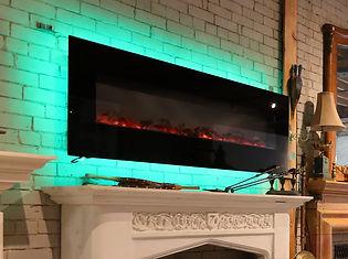 Amantii electric fireplace WM-FM-60-70-23-BG