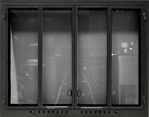 Custom Fireplace Doors - Matte Black Cab