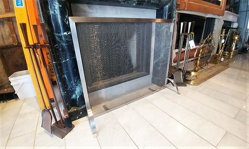 Stainless steel outdoor or indoor fireplace screen at The Fireplace Shop Ltd.