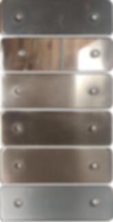 Dark, and metallic plating samples