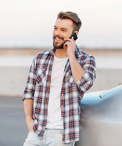 Young man on a cell phone