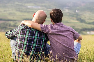 Gay couple behind iStock_000041057540_Sm