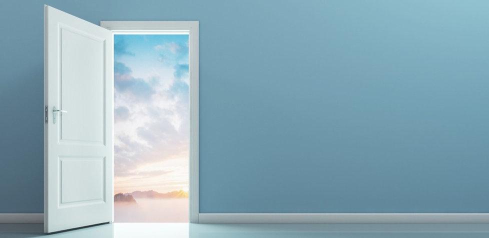 Door open to sky