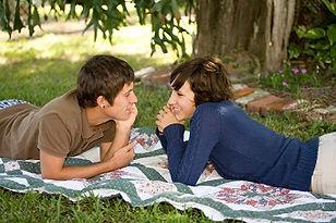 Couple love picnic