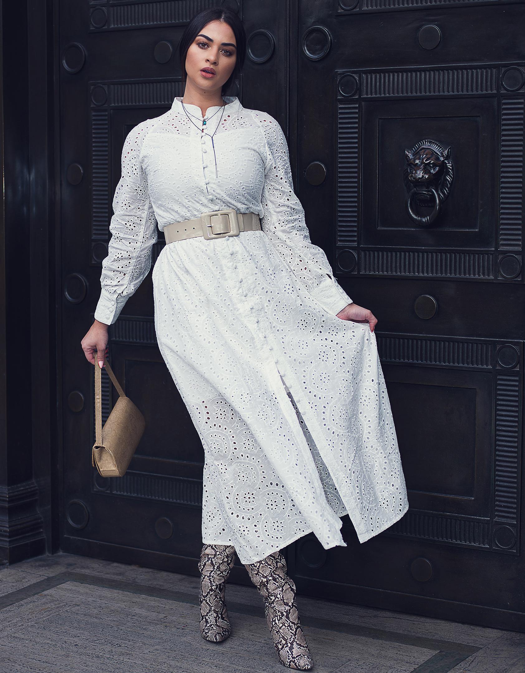 White dress editorial Geoff Nichols Photography