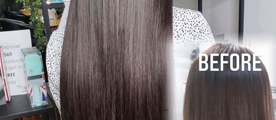 Hair extensions.