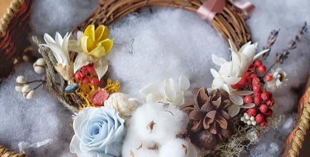 'Perfuma' - PERFECT GIFT! preserved and dried Wreath come with aroma