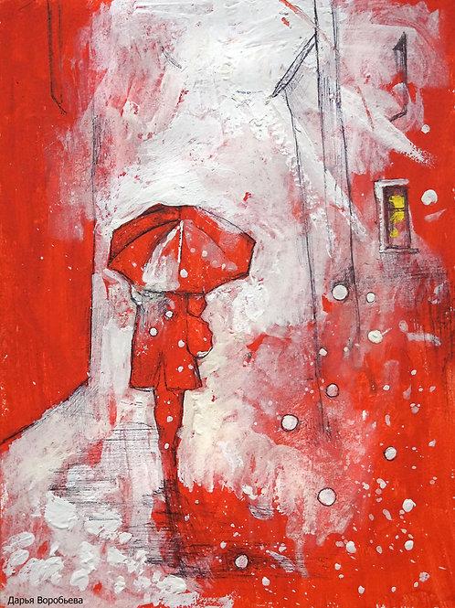 Снежный путь. 24*18, картон