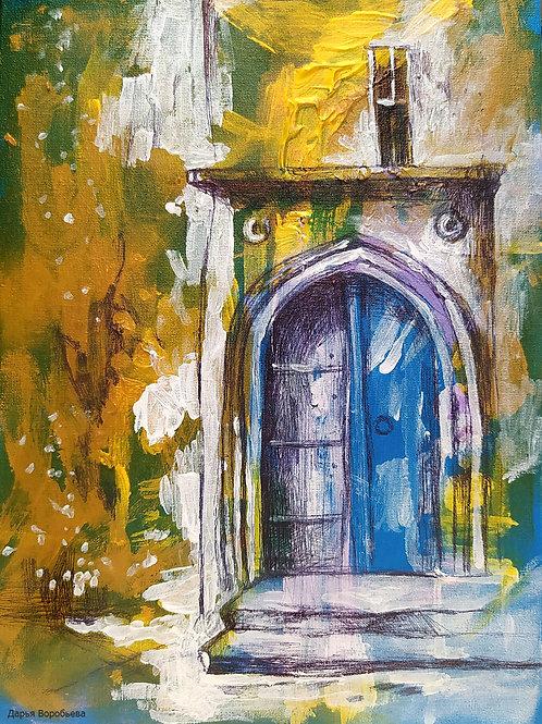 Двери в Риме. Via di San Simone. 24*18, холст на картоне