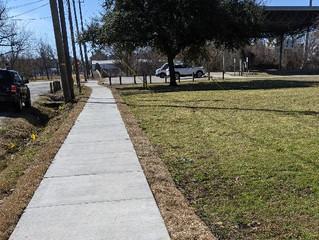 New Sidewalk at Cottage Grove Park!