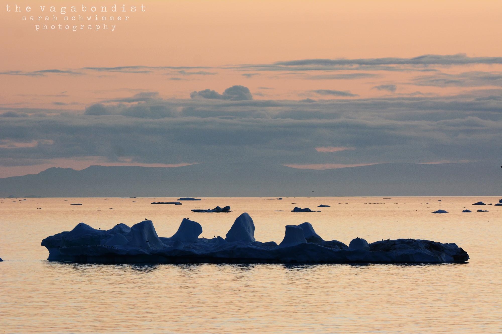 Sunset Iceberg