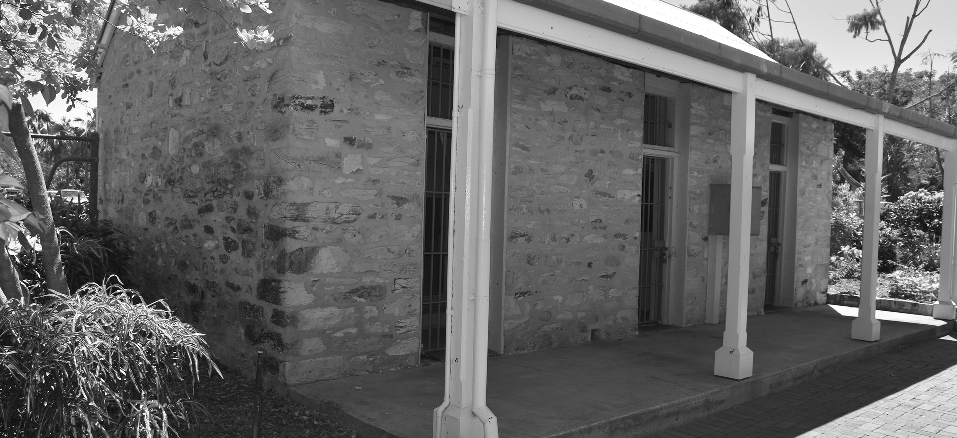 Original gaol cell block, Police Station and Court House, Palmerston.