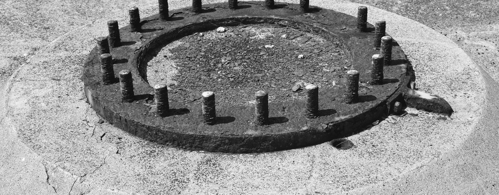Remnant 6.2-inch gun emplacement, East Point.