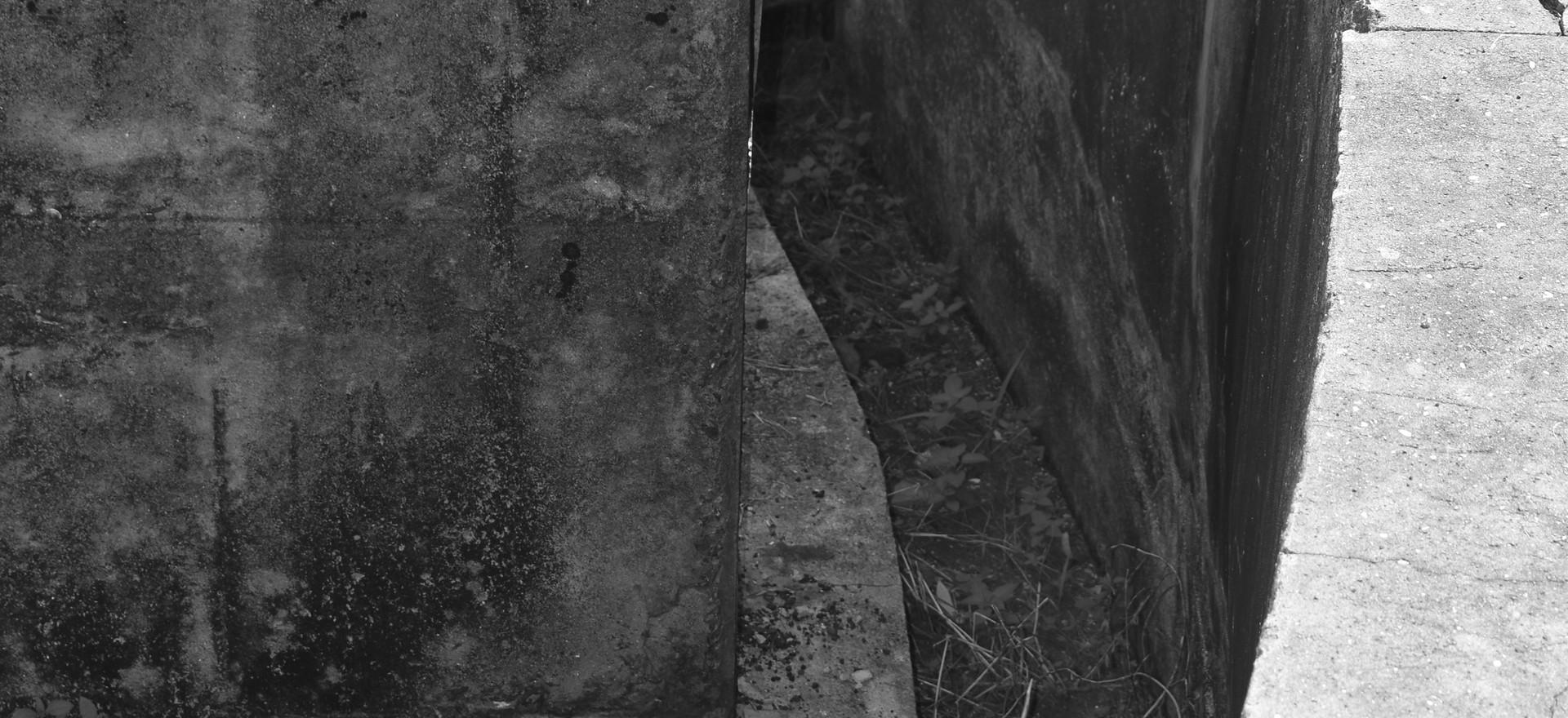 Subterranean corridor, WWII gun emplacement, East Point.