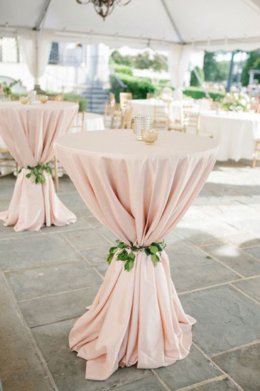 Wedding Tablecloths LUXE Blush Pink at blush LULA Order Now