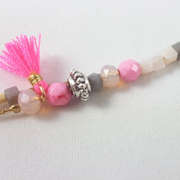 Bracelet multi rangs rose