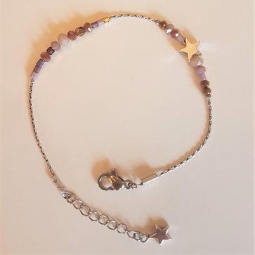 Bracelet Parme/cuivre