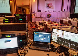 Roy's Audio Visual manages  the sound, video and lighting for an event