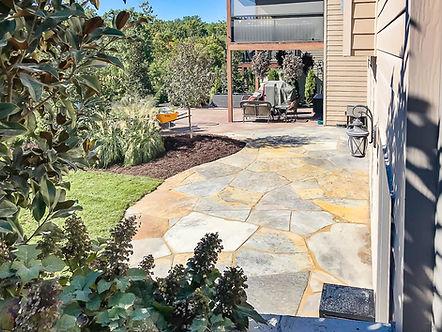 Patio pavers for a landscape design