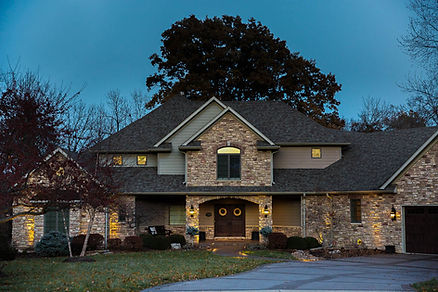 Example of outdoor lighting for a residentiaproperty