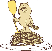 Bucky Beaver, mascot of Camp Hi