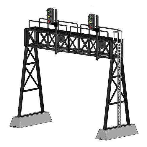 DZ-1090-HO-50-2 Signal Bridge | HO scale