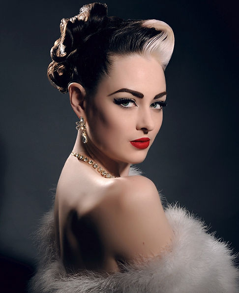 Colourful promotional photos for burlesque artists and performers, Birmingham, U.K.