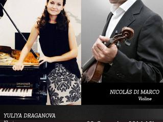 Duo-Abend Klavier und Violine mit Nicolas Di Marco am 29. September 2016, 19Uhr