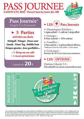 Mountagna Parc - Pass Journée