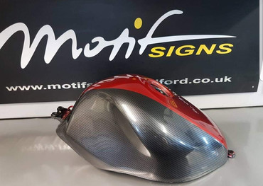 carbon fibre dipped with candy red