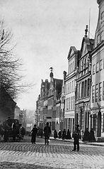 Lübeck, Mengstraße um 1865