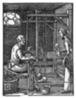 Der Weber aus dem Ständebuch von Jost Amman
