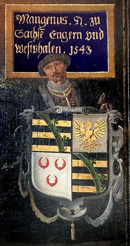 Herzog Magnus I.von Sachsen-Lauenburg führte 1526 di Reformation in Krumesse ein
