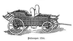 Postwagen um 1700