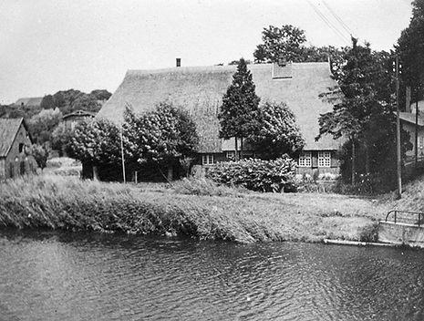 Das alte Secknitzfahrerhaus de Familie Weideman 1937 abgebrannt