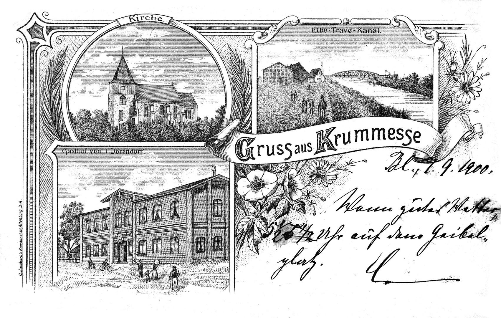 Gruß aus Krummesse 1900